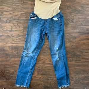 Maternity light blue jeans